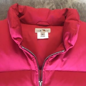 Red Puffy 100% Down-filled Vest